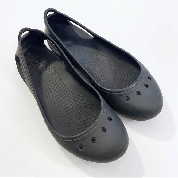 7b2c2bfdc2 CROCS Shoes | Womens Black Kadee Work Flat Size 7 | Poshmark